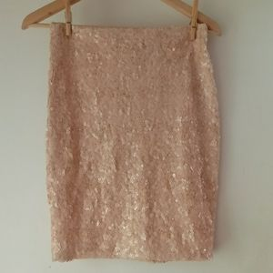 Asos 4 Pinky Peach Sequin Mini Skirt